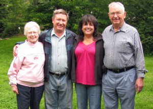 Mom, Phil, Nancy and Dad (NH, 2009)