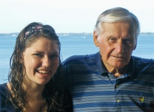 Erin and Grandpa Bill Newhouse, 2007